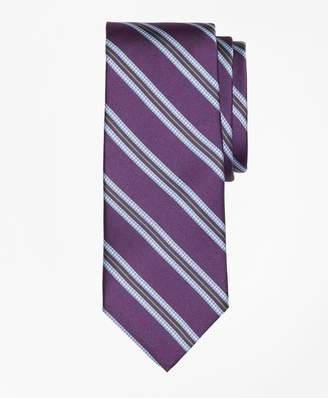 Brooks Brothers Houndstooth Stripe Print Tie