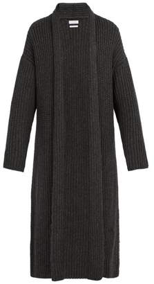 Deveaux - Knitted Wool Blend Robe Coat - Mens - Grey