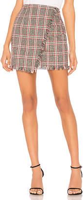 by the way. Carol Plaid Fringe Skirt