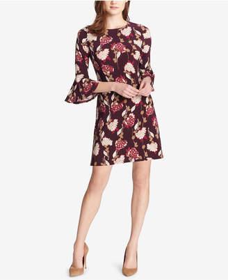 Tommy Hilfiger Floral Bell-Sleeve A-Line Dress
