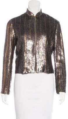 Lana Marks Sequin-Embellished Silk Jacket
