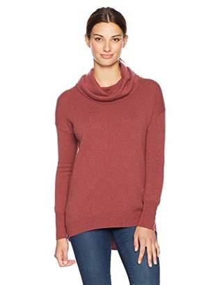 Lark & Ro Women's Cowl Neck Cashmere Sweater