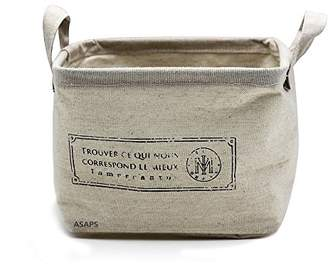 Storage Basket Storage Bin Storage Cube with Handles Small Canvas Fabric Cotton Linen Collapsible