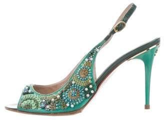 Blumarine Embellished High-Heel Sandals