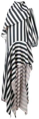 Marques Almeida Marques'almeida asymmetric stripes dress