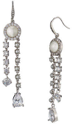 Carolee Crystals and Pearl Linear Earring