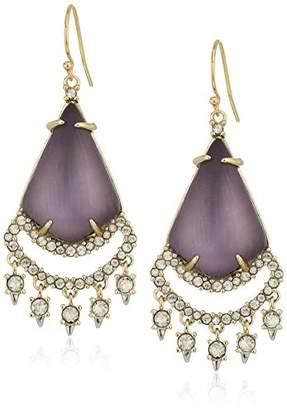 Alexis Bittar Crystal Lace Chandelier Drop Earrings