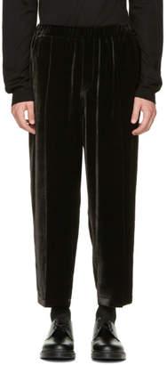 McQ Black Velvet Neukolln Trousers