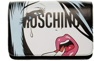 Moschino Crossbody Bags Bag Capsule Moschinoeyes Collection In Genuine Leather With Woman Eyes Print