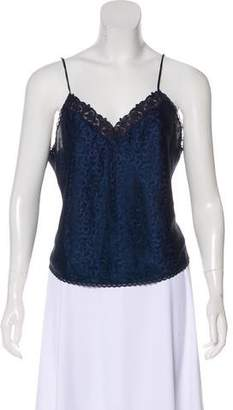 Christian Dior Sleeveless Lace-Trimmed Top
