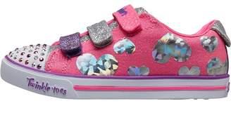 Skechers Girls Twinkle Toes Sparkle Lite Flutter Fab Pumps Pink