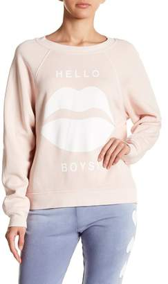 Wildfox Couture Hello Boys Fleece Lined Sweater