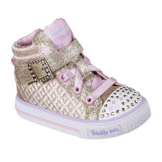 Skechers Twinkle Toes Shuffles Girls Sneakers - Toddler