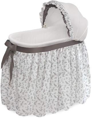 Badger Basket Wishes Oval Bassinet - Full Length Skirt