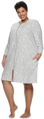 Croft & Barrow Plus Size Zip-Front Robe