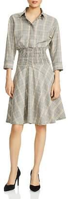 Maje Resha Plaid Shirt Dress