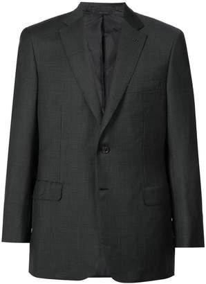 Brioni checked suit jacket