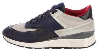 Z Zegna Suede Low-Top Sneakers