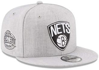 New Era Boys' Brooklyn Nets The Heather 9FIFTY Snapback Cap