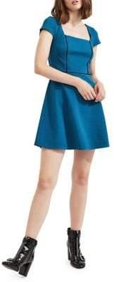 Miss Selfridge Squareneck Fit-&-Flare Dress