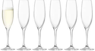 LSA International Uno Champagne Flutes - Set of 6