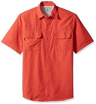 G.H. Bass & Co. Men's Explorer Point Collar Short Sleeve Fishing Shirt