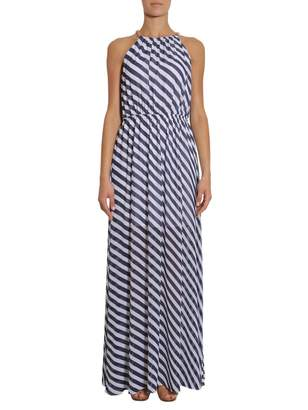 MICHAEL Michael Kors Long Striped Dress