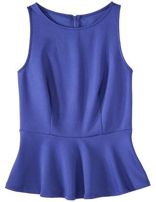 Mossimo Women's Sleeveless Scuba Peplum Top - Assorted Colors