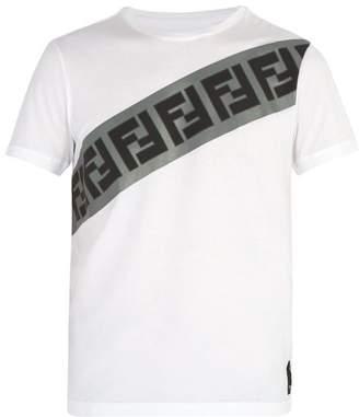 Fendi Logo Print Cotton T Shirt - Mens - White