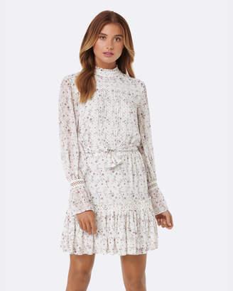 Forever New Harlie Pintuck Shirring Dress