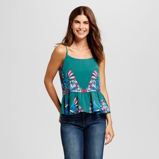 ISANI for Target Women's Placed Floral Printed Woven Tank with Adjustable Straps $29.99 thestylecure.com