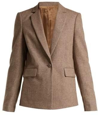 Joseph Prisca Single Breasted Wool Blend Jacket - Womens - Beige