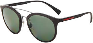 Prada Sport SPS 04S Black Round Sunglasses
