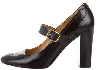 Bettye Muller Leather Mary Jane Pumps