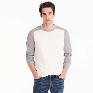 J.Crew Cotton-cashmere piqué crewneck baseball sweater
