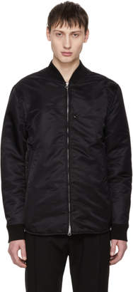 Acne Studios Black Mylon Shine Bomber Jacket