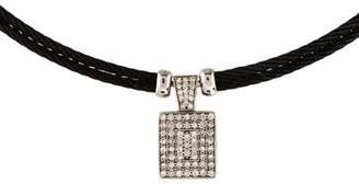 Charriol Diamond Celtic Noir Pendant Necklace