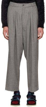 Bless Grey Cashmere Ultrawidepleated II Trousers