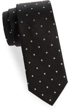 Saks Fifth Avenue Dot-Print Silk Tie