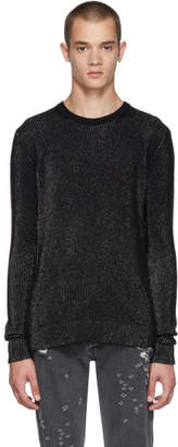 Balmain Black and Silver Lurex Sweater