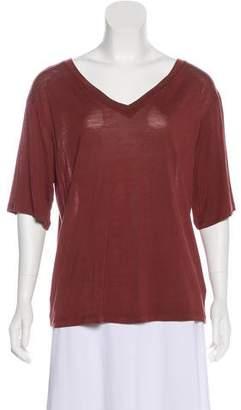 Acne Studios Short Sleeve V-Neck T-Shirt