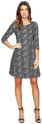 Taylor Knit Jacquard Fit Flair Dress Women's Dress