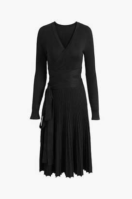 Genuine People Knit Fit + Flare Pleated Midi Dress