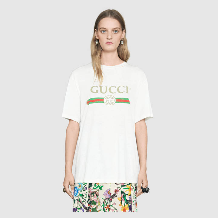 Gucci print cotton t-shirt 5