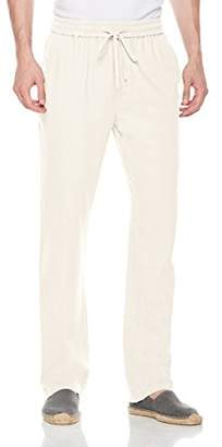 Isle Bay Linens Men's Casual Linen Pant with Drawstring ...