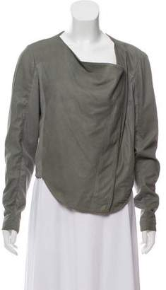 Helmut Lang Leather Long Sleeve Jacket