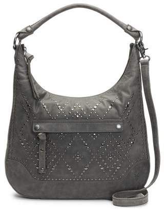 Frye Melissa Large Leather Studded Hobo Bag