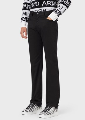 Emporio Armani Five-Pocket Trousers In Comfort Gabardine