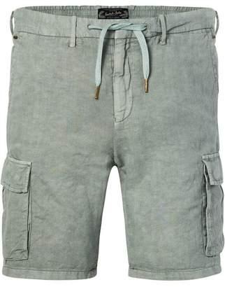 Scotch & Soda Cotton-Linen Cargo Shorts | Regular length