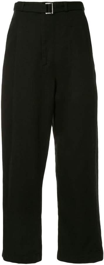 Maison Mihara Yasuhiro belted straight-leg trousers